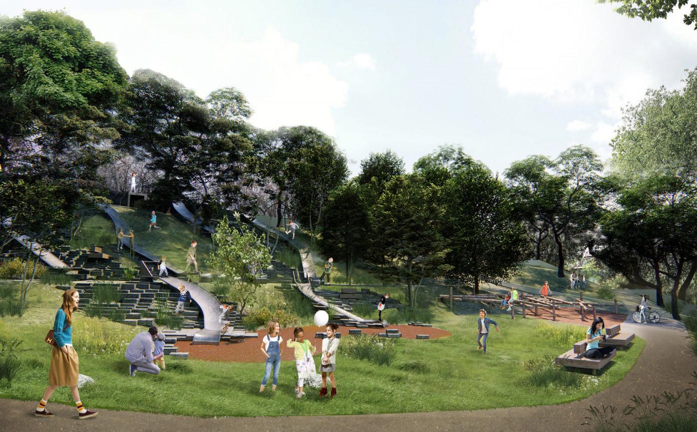 """Візуалізація плато """"Вишневий сад"""" в Парку Жанни Лябурб"""