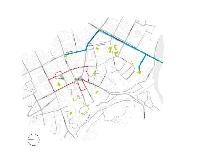 Пішохідно-рекреаційна мережа / Концепція реконструкції майданів Соборний та Перемоги