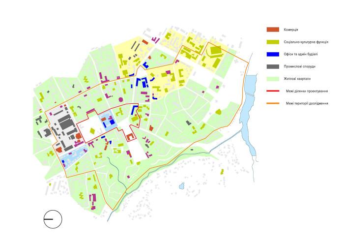 Функціональне зонування / Концепція реконструкції майданів Соборний та Перемоги