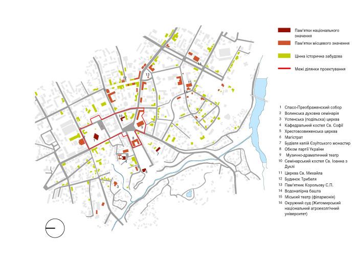 Історичні будівлі / Концепція реконструкції майданів Соборний та Перемоги