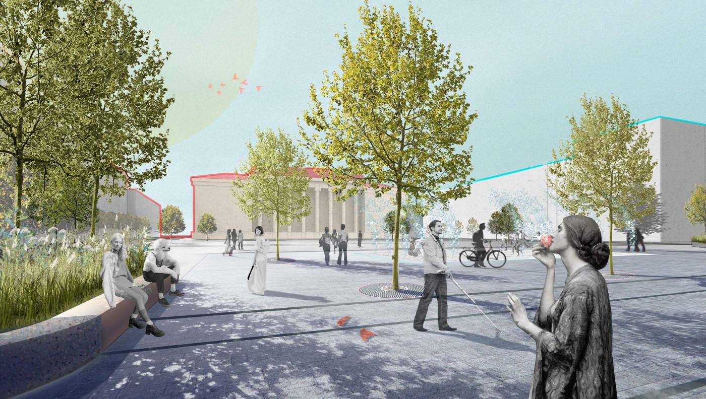 Візуалізація майдану Соборного / Концепція реконструкції майданів Соборний та Перемоги
