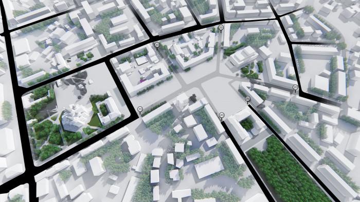 Пропозиції по транспорту / Концепція реконструкції майданів Соборний та Перемоги