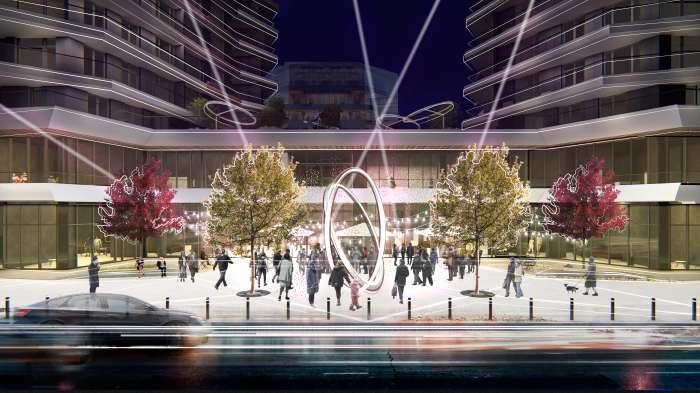 Площа з інтерактивним арт-об'єктом / Територія ЖК 'Diadans'