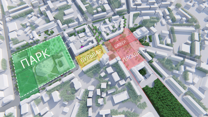 / The concept of reconstruction of the Soborny and Victory Squares