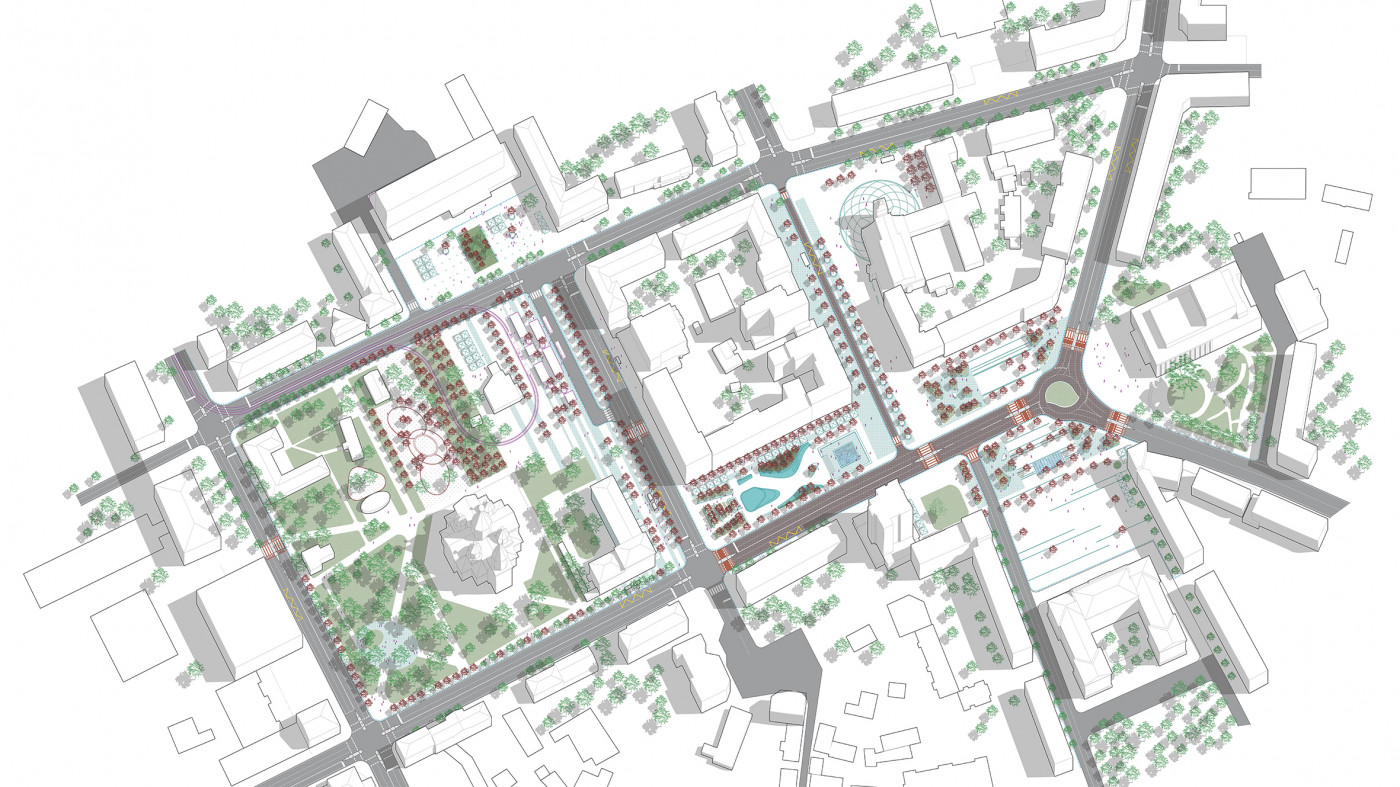 Masterplan / The concept of reconstruction of the Soborny and Victory Squares