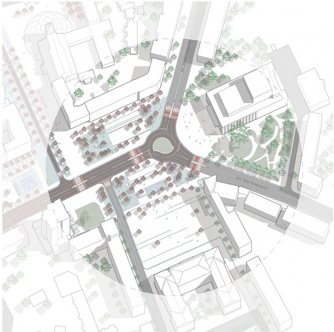 Soborny Square / The concept of reconstruction of the Soborny and Victory Squares