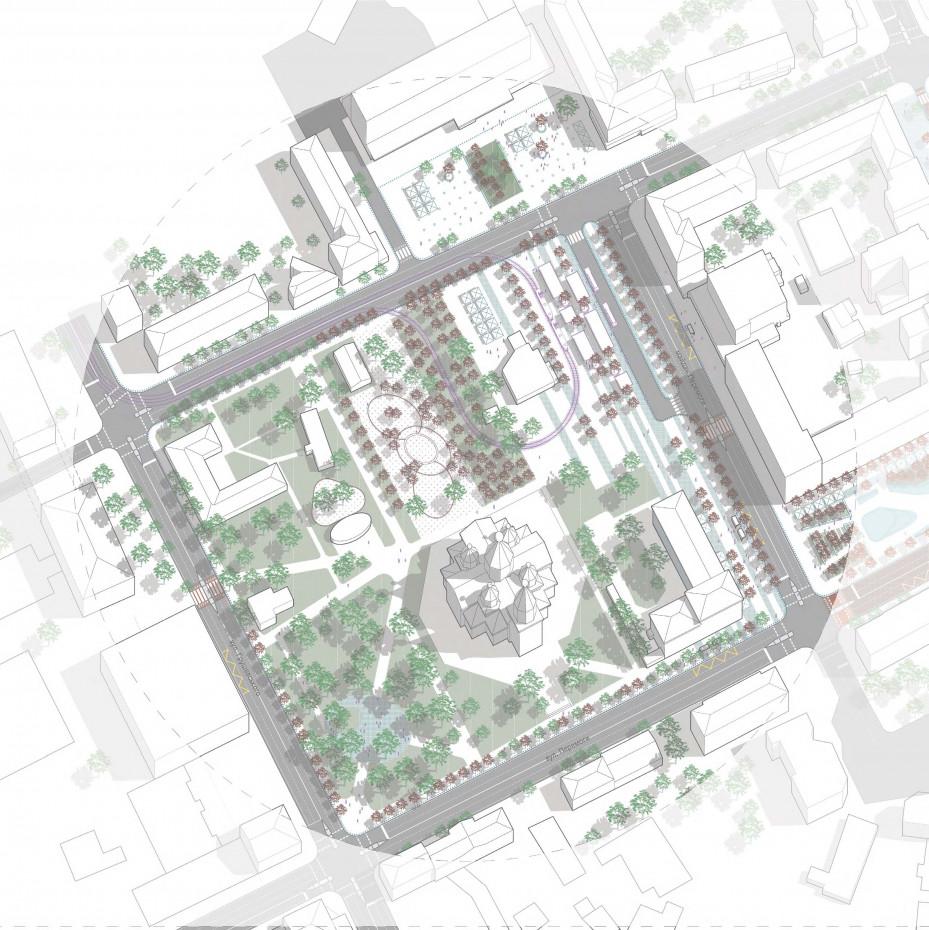 майдан Перемоги та парк / The concept of reconstruction of the Soborny and Victory Squares
