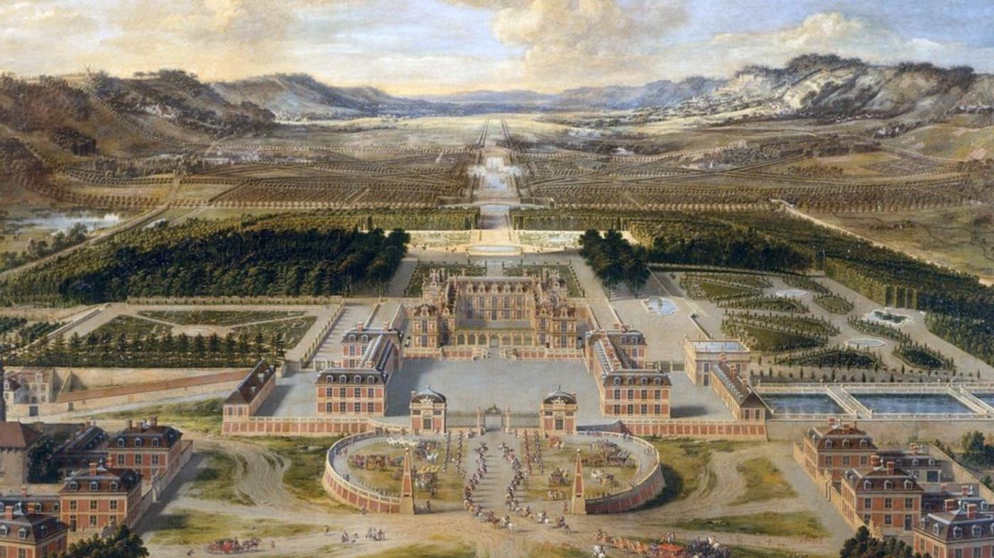 Вид на парк Версаля, 17 сторіччя