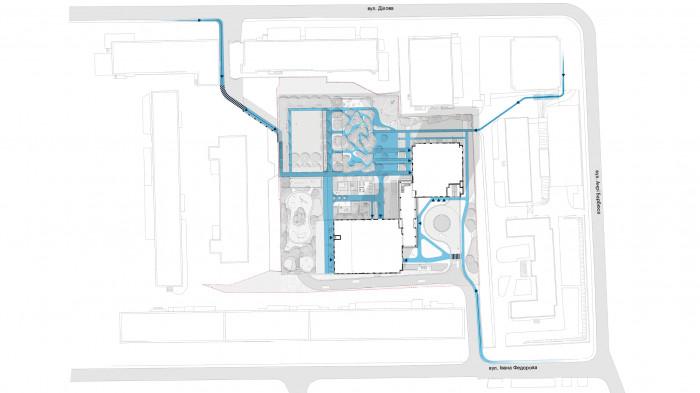 Pedestrian links / 俄罗斯方块大厅-住宅综合体