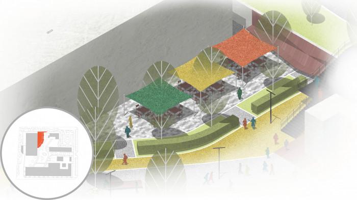 Минули часи, коли людина обмежувалась чотирма стінами офісу — тепер можна працювати на вулиці /  创新园区——单位城